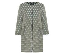 Mantel aus Waben-Jacquard grau