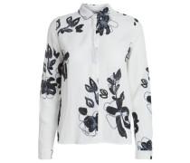 Blumiges Hemd schwarz / weiß