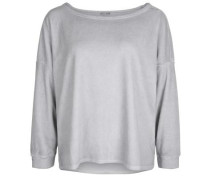 Sweatshirt Sweat Velvet hellgrau