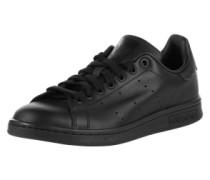 Flacher Sneaker aus Leder 'Stan Smith' schwarz