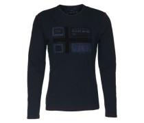 Langarmshirt mit appliziertem Front-Logo 'Seton' blau