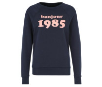 Sweatshirt Bonjour 1985 blau