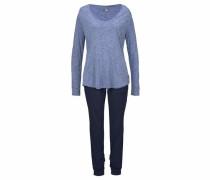Pyjama dunkelblau / blaumeliert