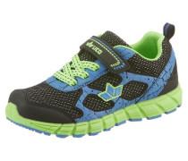 Sneaker blau / neongrün / schwarz