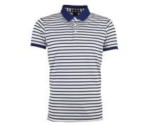 Poloshirt in Pique-Qualität blau / weiß