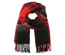 Langer Schal mit Fransen 'Pcdannie' rot