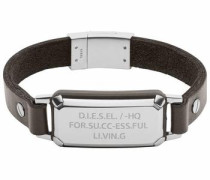 Lederarmband »Leather Spec Dx1018040« braun / silber