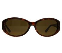 Sonnenbrille braun / gold / schwarz