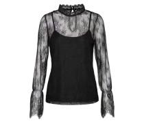 Spitzen-Shirt 'vmswan' schwarz