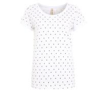 T-Shirt 'Irena' schwarz / weiß