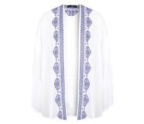Kimono 'Woliko' blau / weiß