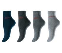 Socken s.Oliver (4 Paar) blau / grau