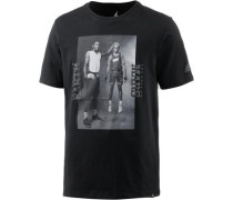 T-Shirt 'M JSW TEE Mars BLK Photo' schwarz