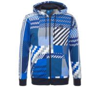 Essential Full Zip Kapuzenjacke blau / rauchblau / schwarz / weiß