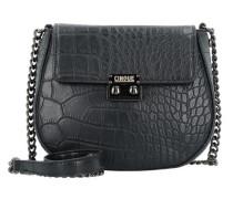 Donna Umhängetasche Leder 16 cm schwarz