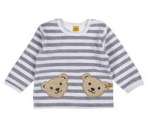 Sweatshirt langärmlig grau / weiß