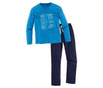 Langer Pyjama blau