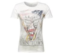 T-Shirt 'MT Town' khaki / mischfarben