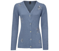 Cardigan mit Strickmix blue denim
