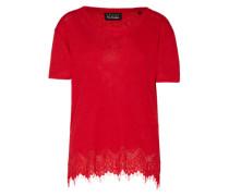 Shirt mit Spitze rot