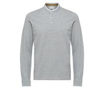 Langärmeliges Poloshirt grau