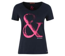 T-Shirt 'Vashirt' nachtblau / pink