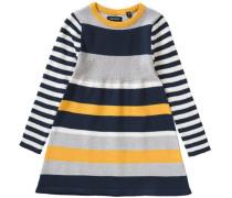 Kinder Strickkleid blau / gelb / grau / weiß