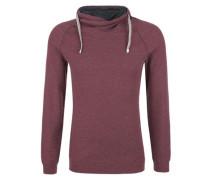 Struktur-Shirt mit Turtleneck rot