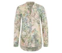 Bluse mit Paisley-Muster mischfarben / rosé