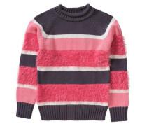 Pullover für Mädchen dunkelgrau / pink / hellpink / weiß