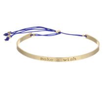 Armreif 'Make a wish' blau / gold