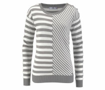 Streifenpullover grau / offwhite
