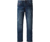 Jeans Slim Fit im Used-Look für Jungen blau