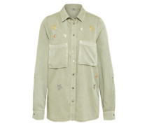 Bluse 'stars Embroidery' hellgrün