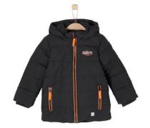 Warme Jacke mit Paspelierung orange / schwarz