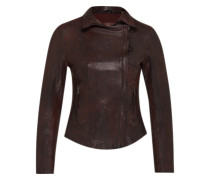 Lederjacke 'Ruby' bordeaux