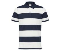 Klassisches Poloshirt blau / weiß