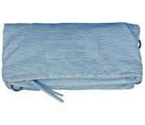 Ronja Washed Clutch Tasche 29 cm blau