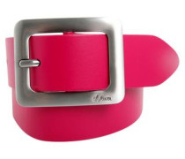 Ledergürtel mit edler Schließe pink
