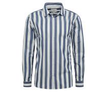 Hemd 'topper 6680' weiß / dunkelblau