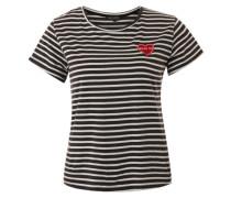 'Moi et toi' Shirt grau / weiß