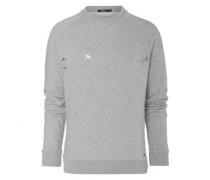 Sweatshirt mit Löcherdetails 'Jarrol' grau