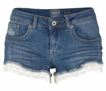 Hotpants 'lace Trim HOT Short' blue denim