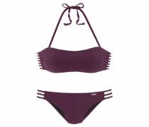 Bandeau-Bikini aubergine