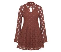 Kleid 'crimson Hearts Lace' braun