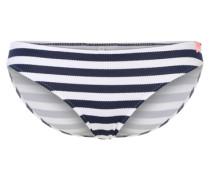 Bikinihose im Streifen-Look blau