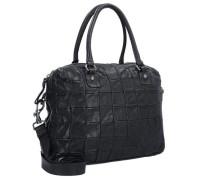 Centella Handtasche Leder 40cm schwarz