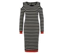 Jerseykleid mit Cut-Outs 'Train' rot / schwarz / weiß