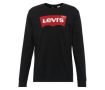 Shirt 'LS Graphic TEE - B' rot / schwarz