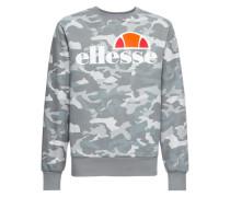 Sweatshirt 'succiso' grau / orange / weiß